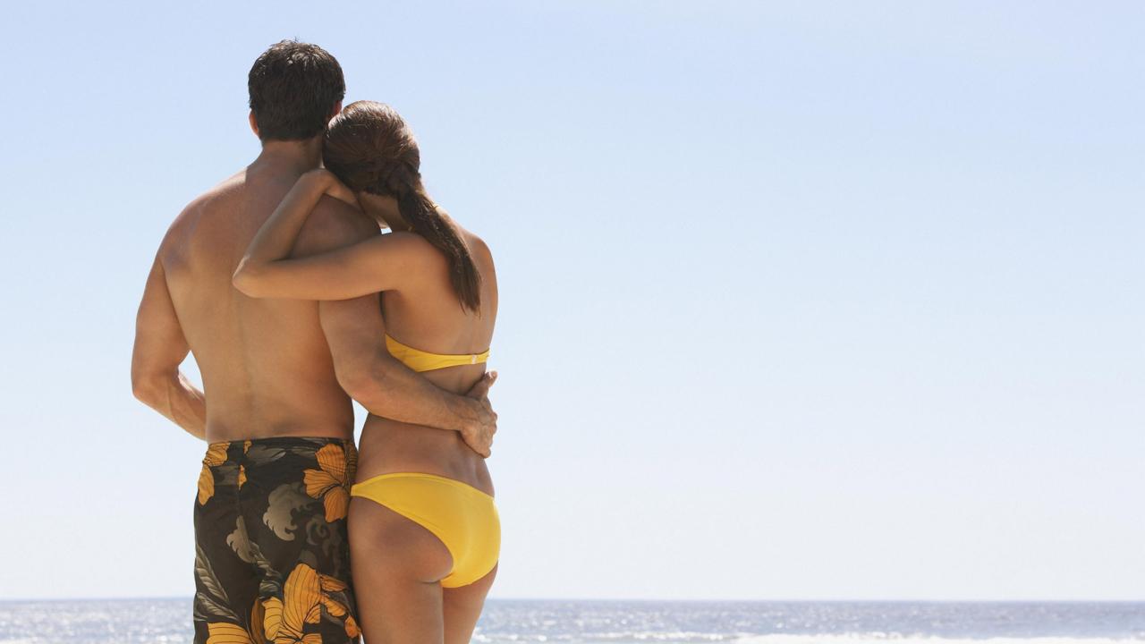 Lovely Couple At Beach