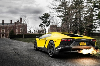 Lamborghini Aventador LP720 4 Background for Android, iPhone and iPad