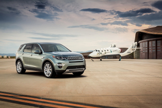Land Rover Discovery Sport in Hangar Background for Android, iPhone and iPad