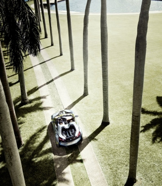 Free BMW i8 Concept Spyder Under Palm Trees Picture for Nokia C6
