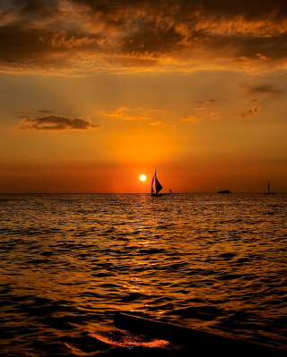 Sunset Sailing Wallpaper for Nokia X3