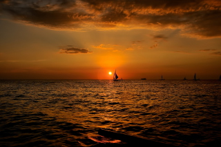 Sunset Sailing Background for Android, iPhone and iPad