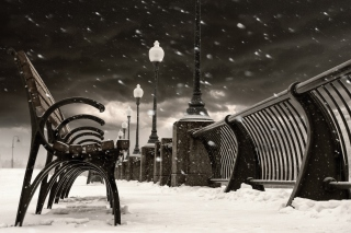 Montreal Winter, Canada Background for Android, iPhone and iPad