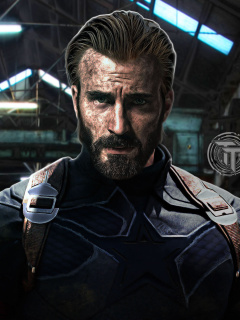 Das Captain America in Avengers Infinity War Film Wallpaper 240x320