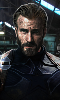 Screenshot №1 pro téma Captain America in Avengers Infinity War Film 240x400