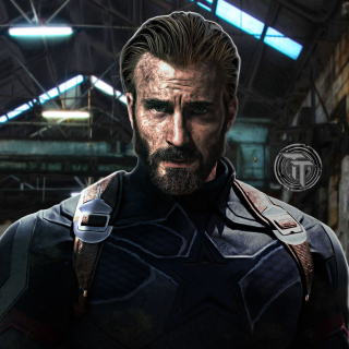 Free Captain America in Avengers Infinity War Film Picture for 208x208
