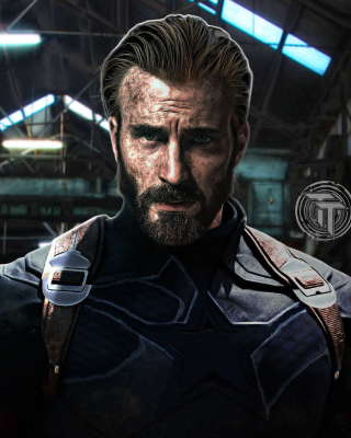Kostenloses Captain America in Avengers Infinity War Film Wallpaper für 320x480