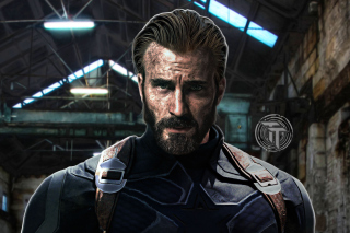 Captain America in Avengers Infinity War Film Wallpaper for 480x400