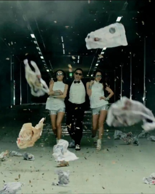 Psy - Gangnam Style Video papel de parede para celular para iPhone 6