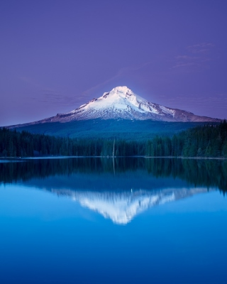 Free Mountains with lake reflection Picture for 176x220