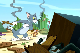 Tom and Jerry Fast and the Furry - Obrázkek zdarma pro 1366x768