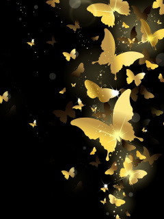 Screenshot №1 pro téma Golden Butterflies 240x320