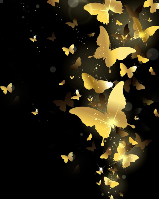 Golden Butterflies Picture for 240x320