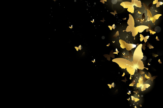 Golden Butterflies Background for Android, iPhone and iPad