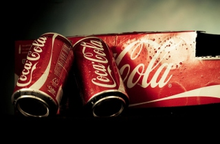 Coca Cola Cans Background for Android, iPhone and iPad