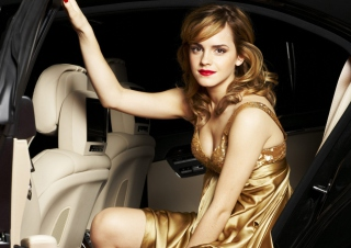 Emma Watson In Beautiful Dress - Obrázkek zdarma pro HTC Wildfire