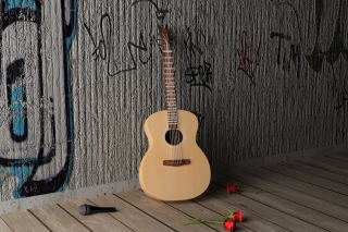 Guitar And Roses sfondi gratuiti per 480x400