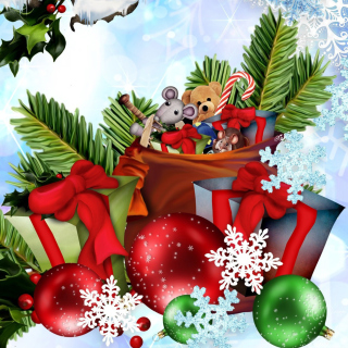 Festive season sparkle and shine Wallpaper for iPad 3