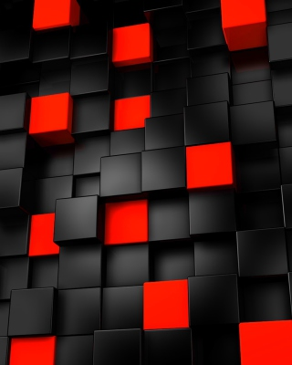 Abstract Black And Red Cubes - Obrázkek zdarma pro Nokia C5-06