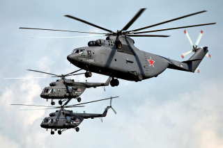 Mi 26 Giant Helicopter Background for Android, iPhone and iPad