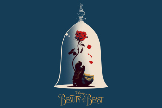Beauty and the Beast Poster Background for 1024x600