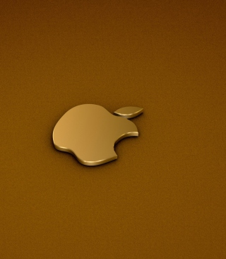 Free Golden Apple Logo Picture for iPhone 5