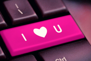 I Love You Hi Tech Style Background for Android, iPhone and iPad