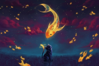Cat's Dream Background for Android, iPhone and iPad