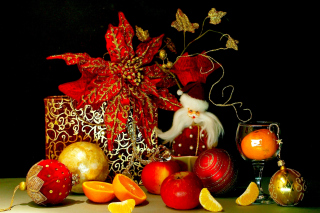 Christmas Still Life Background for Android, iPhone and iPad