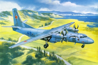 Antonov An 24 Airplane Background for Android, iPhone and iPad