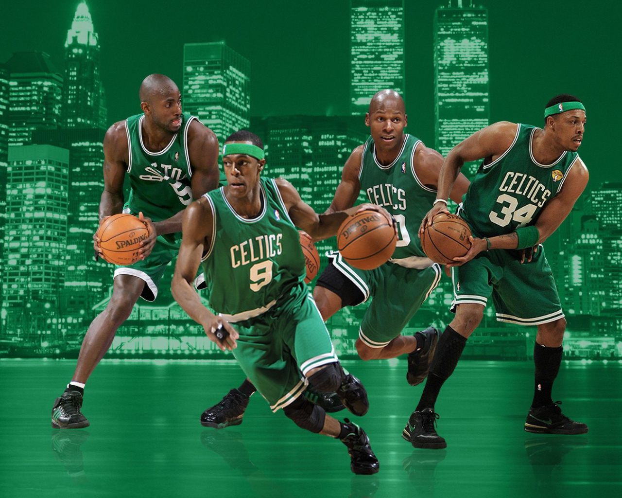 Screenshot №1 pro téma Boston Celtics NBA Team 1280x1024