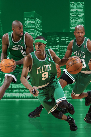 Screenshot №1 pro téma Boston Celtics NBA Team 320x480