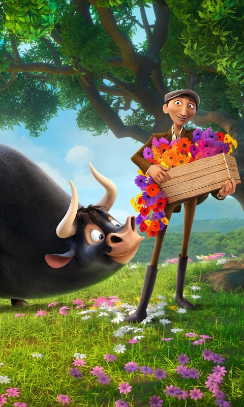 Ferdinand 2017 American 3D Computer Animated Comedy Film wallpaper 480x800