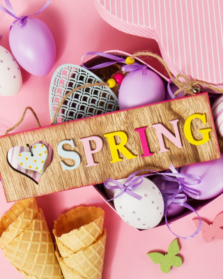 Spring Inscription Background for Nokia Asha 306