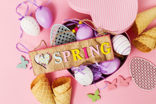 Spring Inscription Wallpaper for 480x400