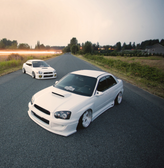 White Subaru Impreza Picture for iPad 2