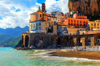 Amalfi Coast, Positano Background for Android, iPhone and iPad