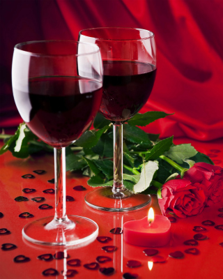 Free Romantic with Wine Picture for iPhone 5S