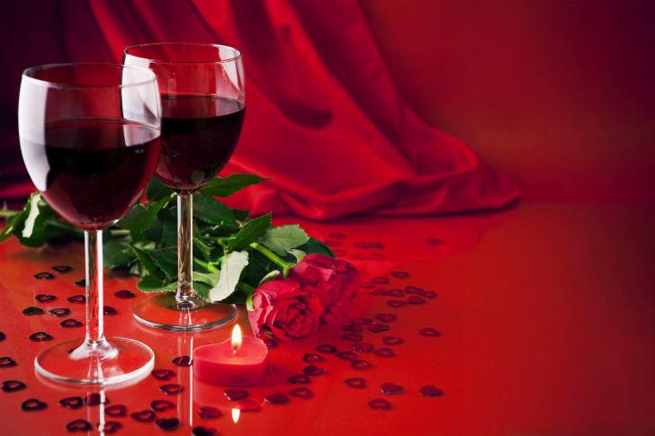 Romantic with Wine wallpaper