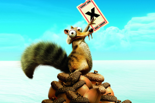 Ice Age Continental Drift Scrat Wallpaper for Android, iPhone and iPad