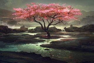 Blossom Tree Painting sfondi gratuiti per cellulari Android, iPhone, iPad e desktop