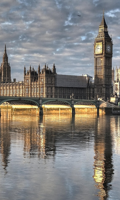 Sfondi Palace of Westminster in London 480x800