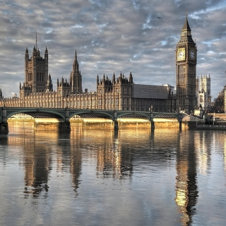 Palace of Westminster in London sfondi gratuiti per iPad Air