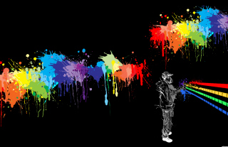 Spray Painting Graffiti Wallpaper for Android, iPhone and iPad