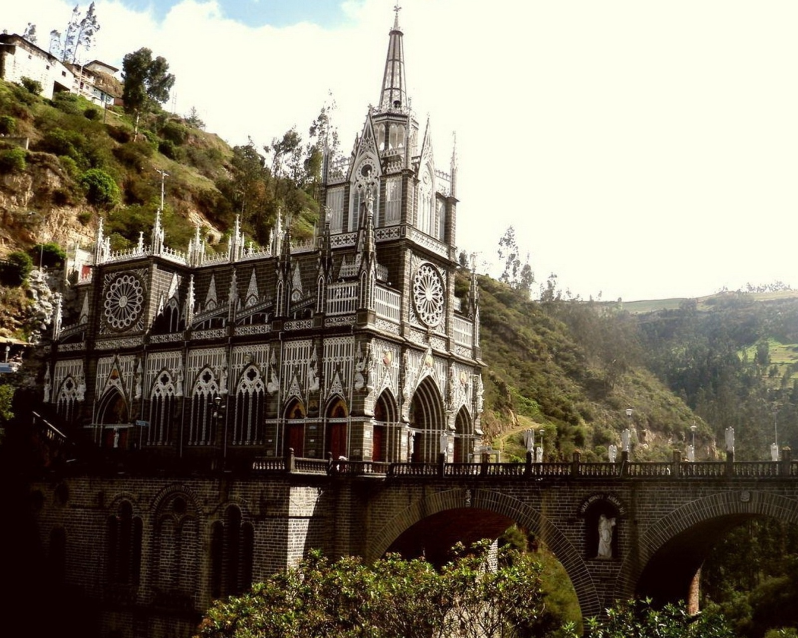 Screenshot №1 pro téma Las Lajas Sanctuary Church Colombia 1600x1280