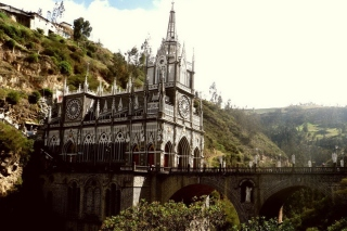 Las Lajas Sanctuary Church Colombia Background for Android, iPhone and iPad
