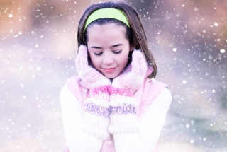 I Love Snow Background for Android, iPhone and iPad