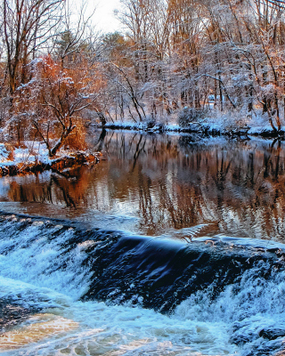 Winter Stream Picture for iPhone 6 Plus