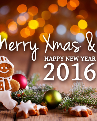 Free Happy New Year 2016 Clipart Picture for Nokia Asha 306