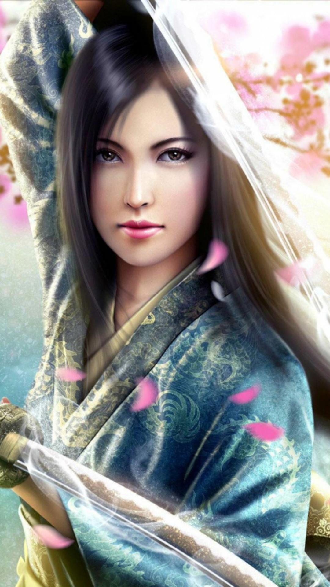 Pictures of girl samurai warriors — photo 7